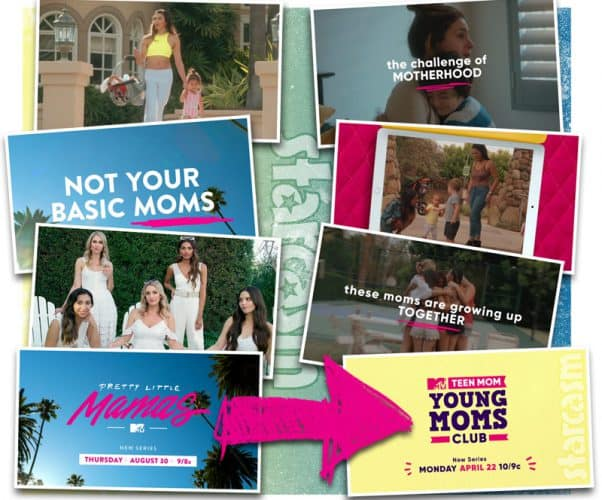 MTV Pretty Little Mamas and Teen Mom Young Moms Club compared side by side