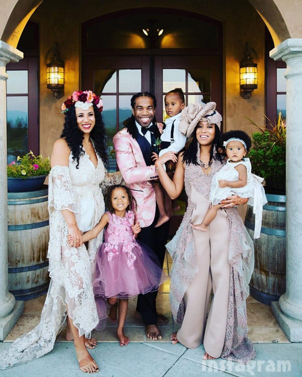 Seeking Sister Wife Snowden Family wedding photo with Dimitri Ashley Vanessa and the children