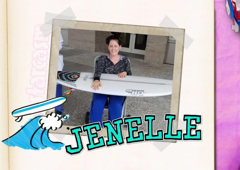 Teen Mom 2 scrapbook Jenelle Eason surfboard