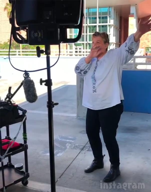 90 Day Fiance Colt's mom Debbie dabbie dabbing outside court at Larissa's hearing