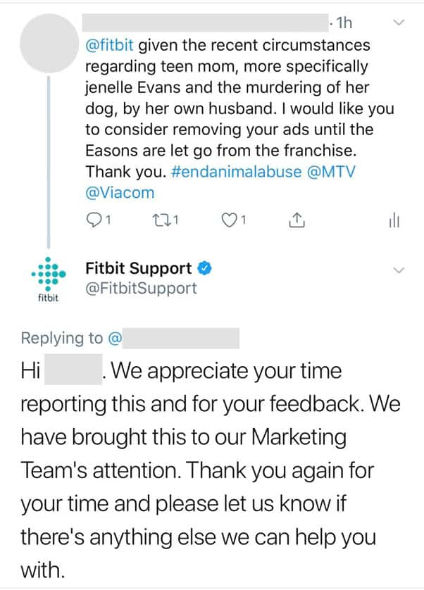Jenelle Eason MTV FitBit Tweet about dog shooting