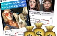 Jenelle Eason is making a lot of money from her dog being shot via sponsored links to exclusive stories