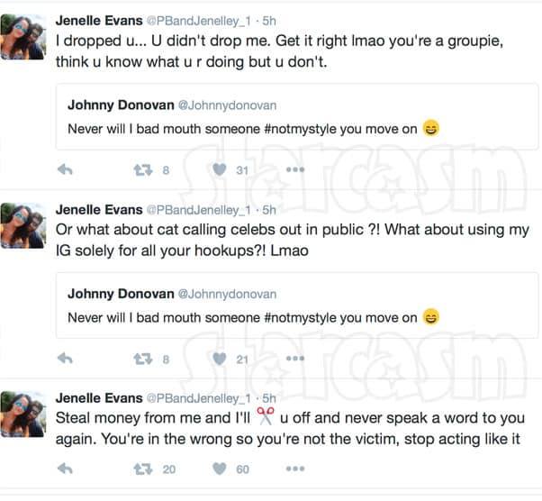 Jenelle Evans Eason Johnny Donovan tweets