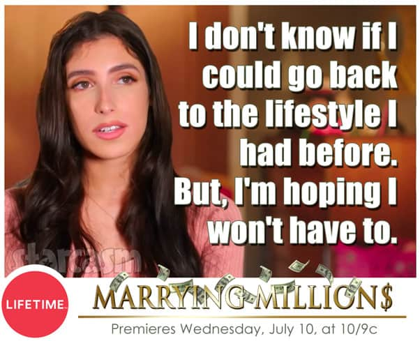 New Lifetime show Marrying Millions Rosie quote