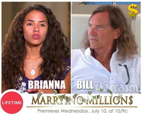 Lifetime Marrying Millions cast Bill and Brianna