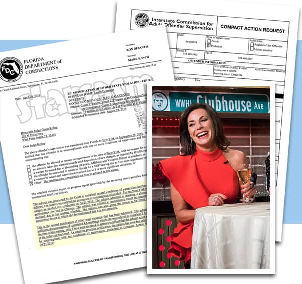 RHONY Luann de Lesseps caught drinking again, faces probation violation in Florida