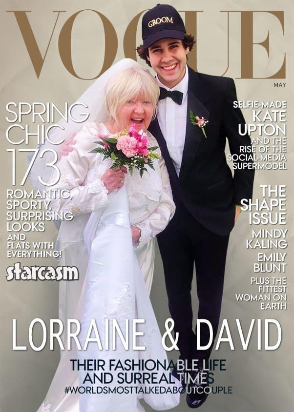 David Dobrik and Lorraine Nash married wedding Vogue cover