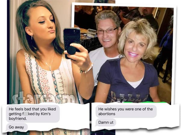 Amber Baltierra's alleged texts with dad  Butch Baltierra's girlfriend Caroline