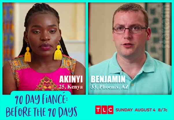 Before the 90 Days Season 3 Akinyi from Kenya and and Benjamin from Phoenix, AZ