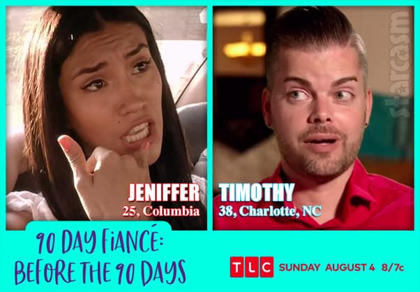 Before the 90 Days Season 3 Jeniffer from Colombia and Timothy from Charlotte NC