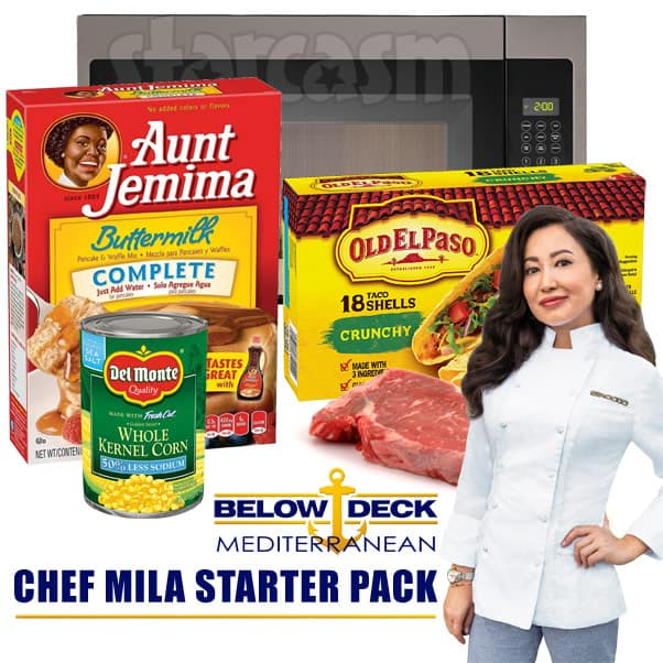 Below Deck Med Chef Mila starter pack