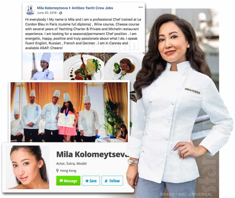 Is Below Deck Med Chef Mila Kolomeitseva a fraud or a plant by producers?