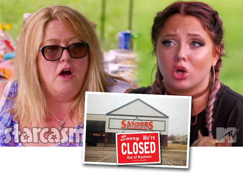 Teen Mom 2 Jade Cline's family's restaurant Sanders Family Kitchen closes