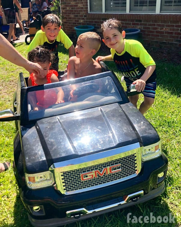 Jenelle Eason's son Kaiser's 5th birthday party with Jace and Ensley