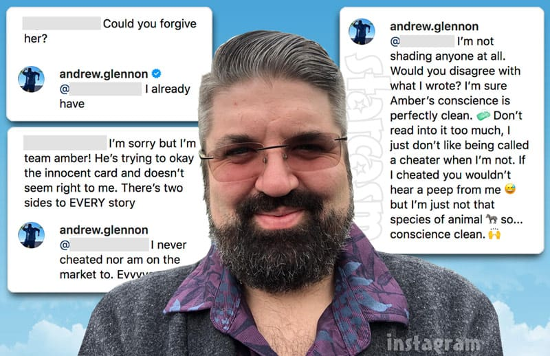 Andrew Glennon Instagram comments about Amber Portwood