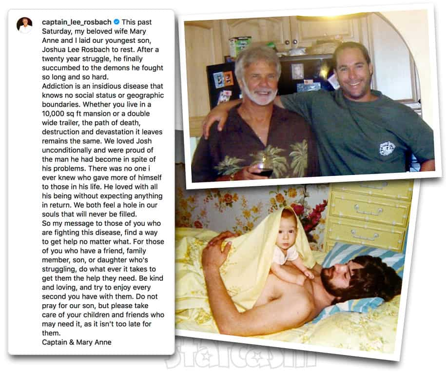 Below Deck Captain Lee Rosbach's son Joshua Rosbach died of a drug overdose on July 22, 2019