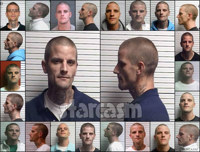 Jenelle Evans ex-husband Courtland Rogers mug shots from arrests