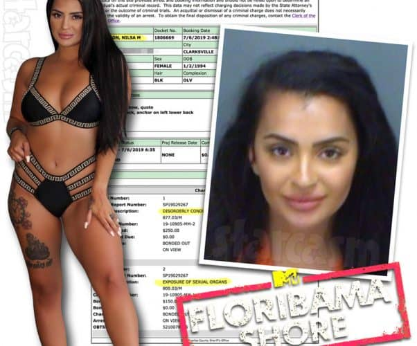 Floribama Shore Nilsa Prowant aka Nilsa Anderson arrested for flashing her boobs