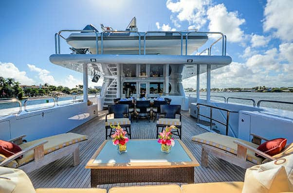 Girls Cruise yacht sundeck