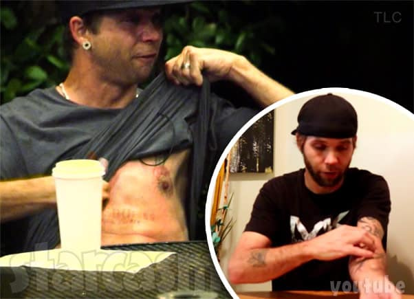 Breaking Amish Jeremiah Raber is a cutter, cuts his arm and cut the word worthless into his chest