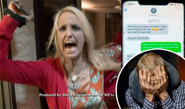 Love After Lockup Clint and Tracie react to other woman Stephanie's texts