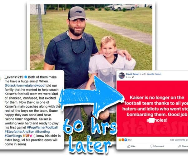 Teen Mom 2 Jenelle and David Eason react to Kaiser being removed from Pop Warner football team