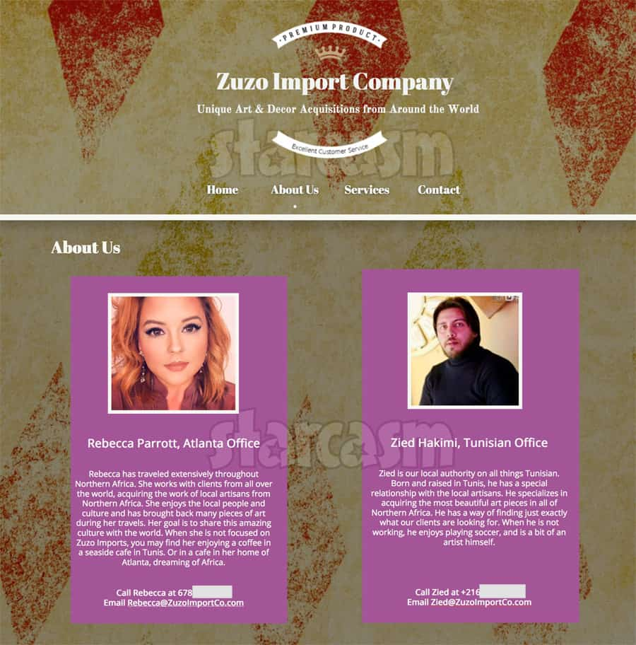 90 Day Fiance Before the 90 Days Rebecca and Zied Zuzo Import Company business website