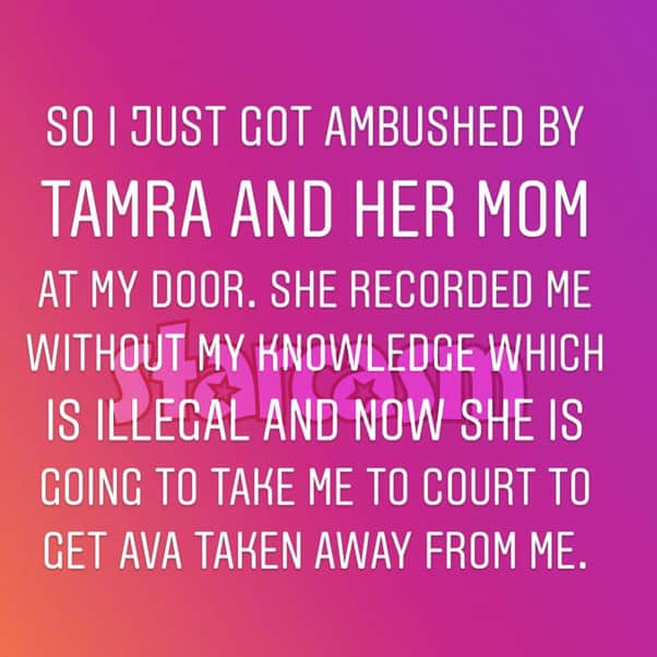 Sarah Rodriguez Tamra Judge confrontation