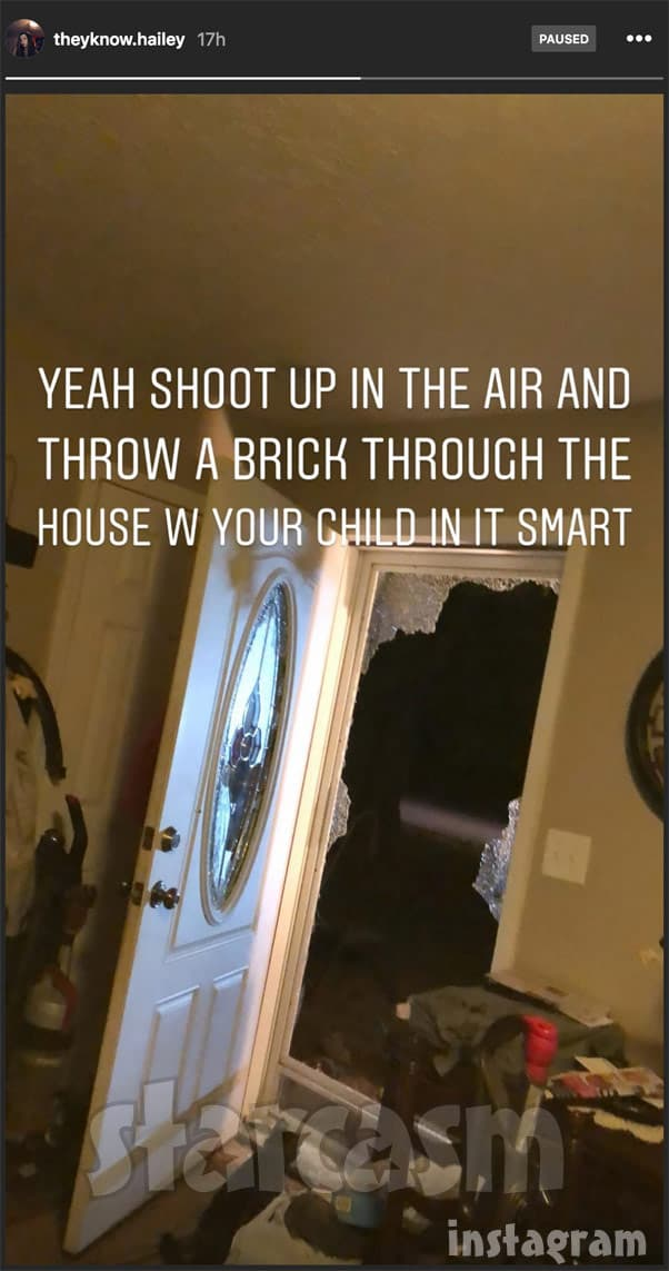 TLC Unexpected Did Matthew throw a brick through Hailey's front door and shoot a gun in the air?
