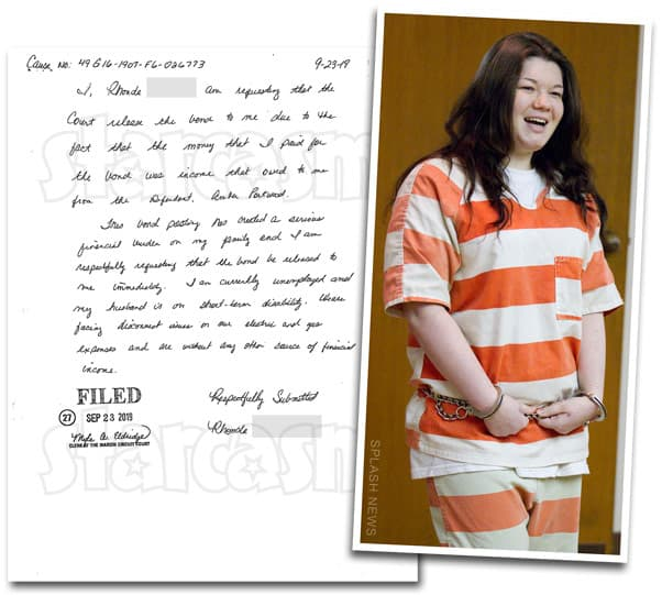 Teen Mom Amber Portwood bail bond refund request by woman named Rhonda