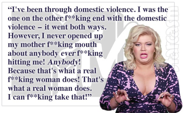 Teen Mom Amber Portwood domestic violence real woman quote MTV