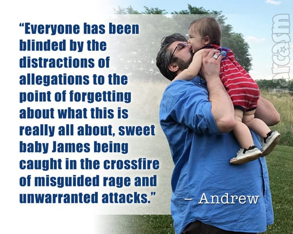 Andrew Glennon statement about son James in aftermath of Amber Portwood's domestic violence arrest and ensuing custody battle