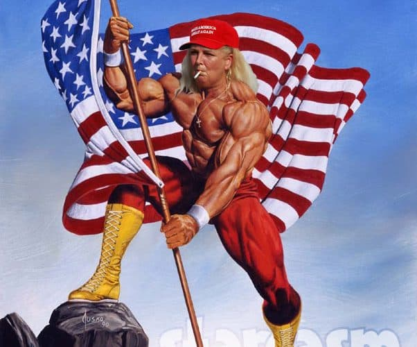 90 Day Fiance Before the 90 Days Before the 90 Days Angela Deem MAGA hat Hulk Hogan US Flag