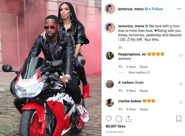 Erica and Safaree married 3