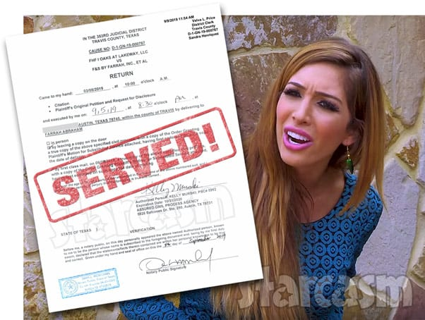 Teen Mom Farrah Abraham served lawsuit