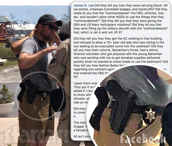 John David Duggar in the Bahamas with MEDIC Corps carrying a badge and gun