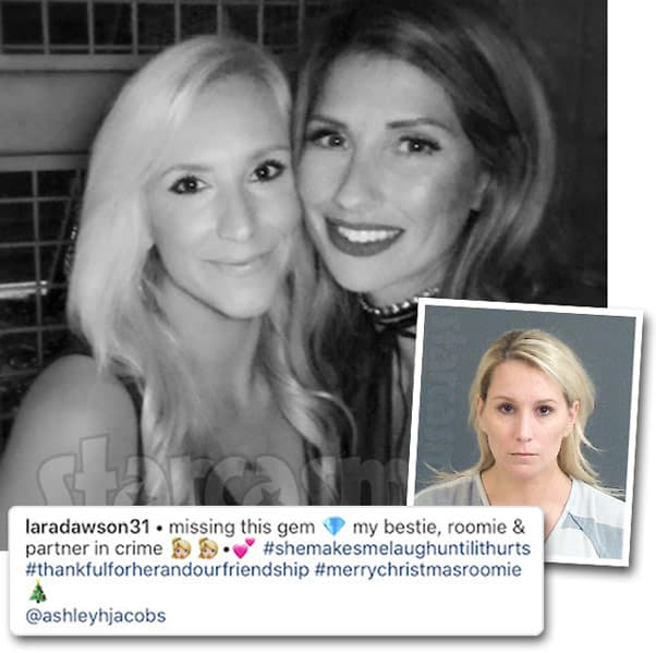 Southern Charm Ashley Jacobs' former roommate Lara Dawson arrested after allegedly filing a false police report claiming Kathryn Dennis was stalking her and hiding in her closet