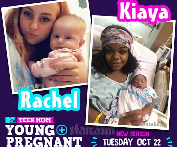 Teen Mom Young and Pregnant new moms Rachel and Kiaya