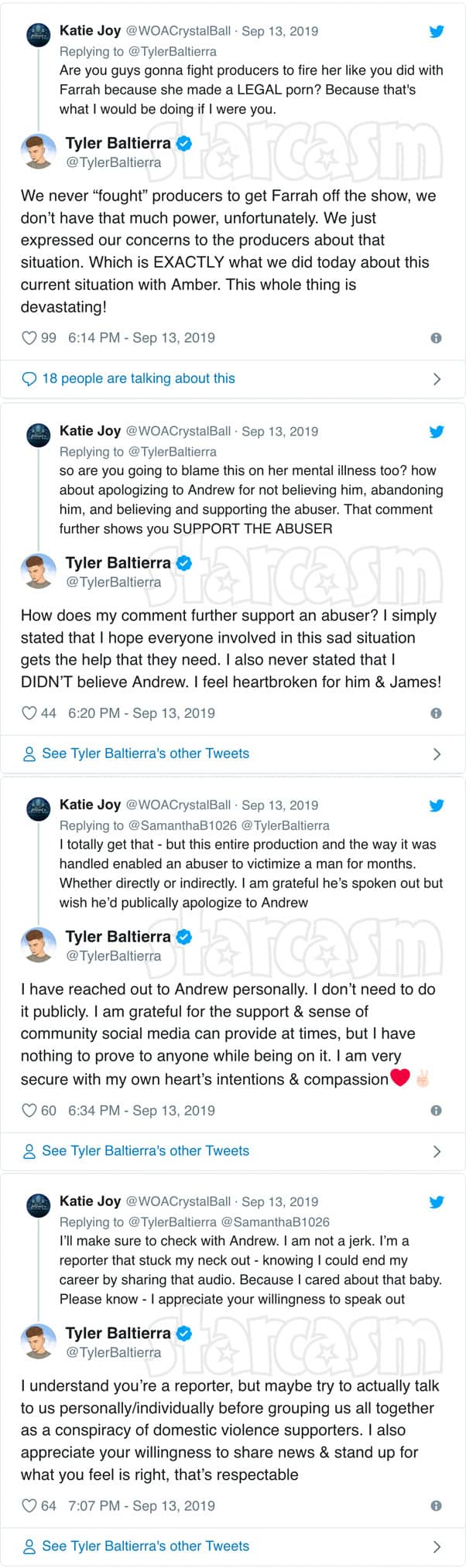Teen Mom OG Tyler Baltierra Amber Portwood audio tweets Without A Crystal Ball