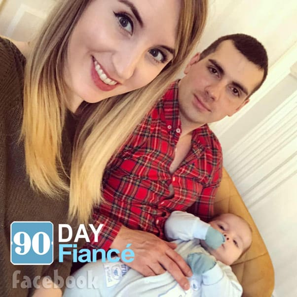 90 Day Fiance Emily and Sasha with their baby son David