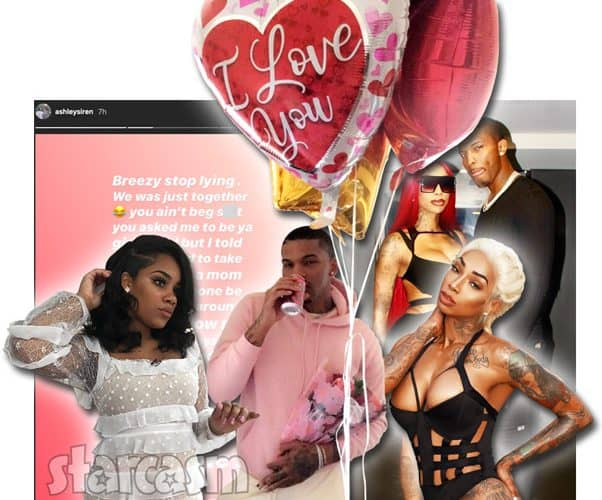 Teen Mom Ashley Jones rapper 600 Breezy and Black Ink Crew's Sky in a love triangle