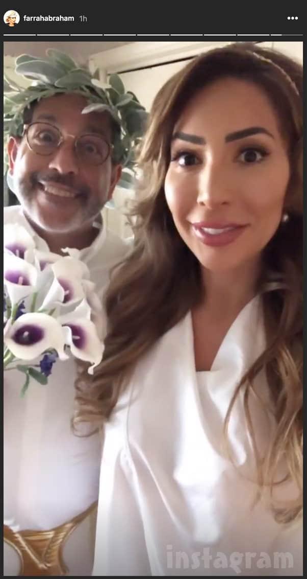 Farrah Abraham Michael Abraham wedding photo