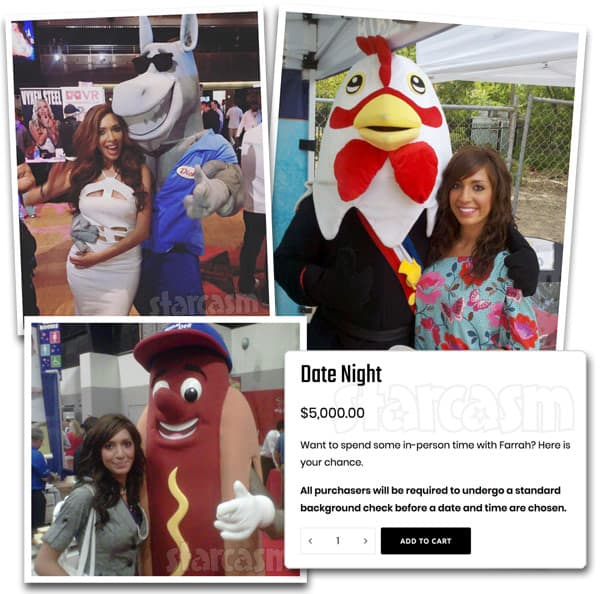 Teen mom Farrah Abraham selling dates for $5,000