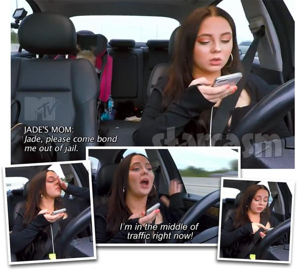 Teen Mom 2 Jade Cline driving while on the phone