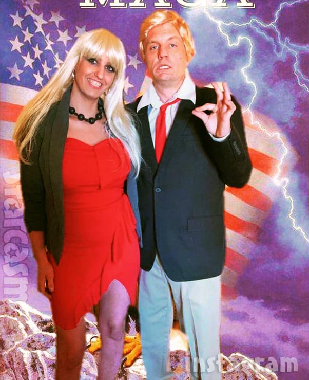 Love After Lockup Clint Brady and Tracie Wagaman wear Donald Trump and Stormy Daniels costumes for Halloween