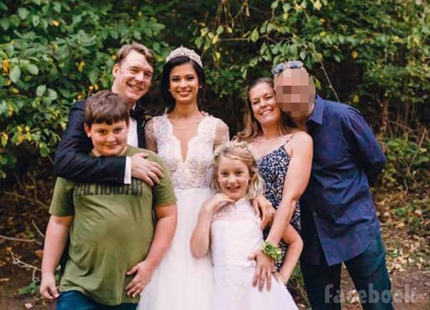 90 Day Fiance Michael Jessen and Juliana Custodio wedding photo with Michael's ex-wife Sarah Jessen