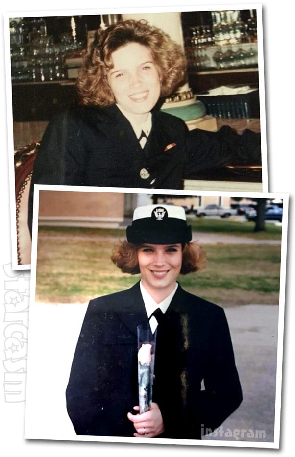 Diamond Foxxx throwback photos in the Navy