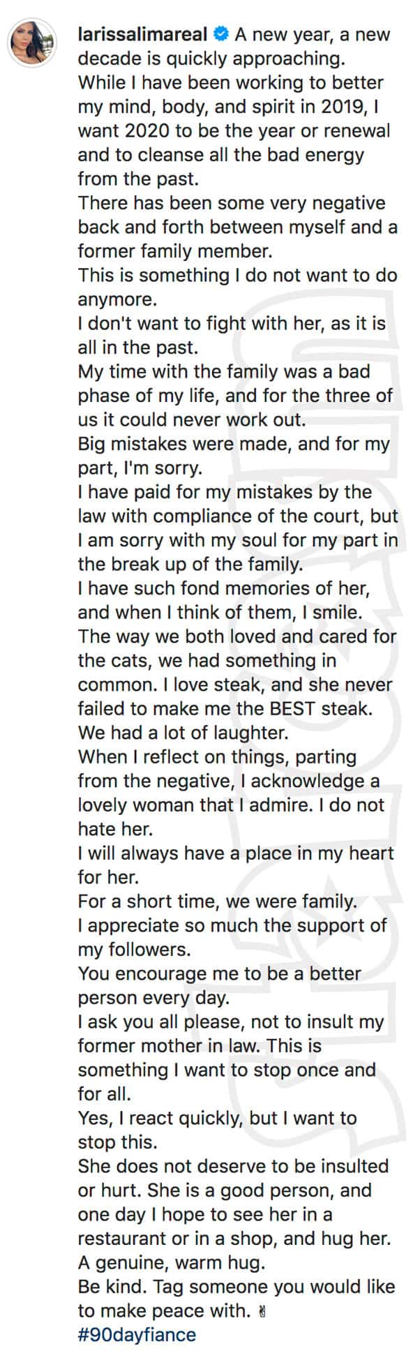 90 Day Fiance Larissa and Colt's mother Debbie peace offering