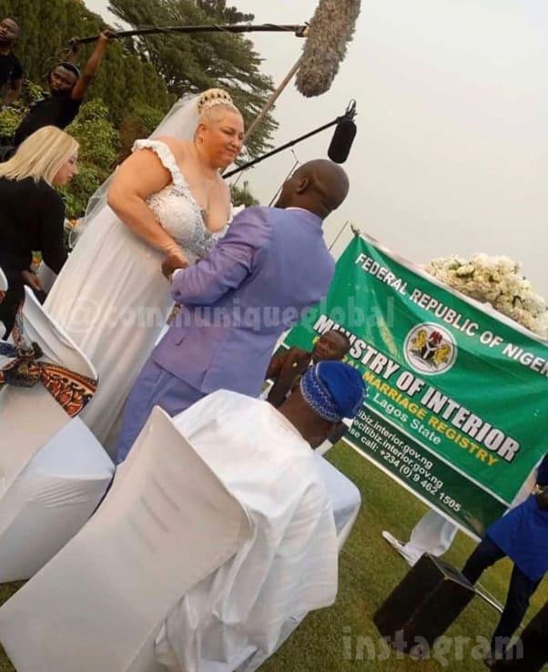 90 Day Fiance Angela and Michael wedding photo in Nigeria