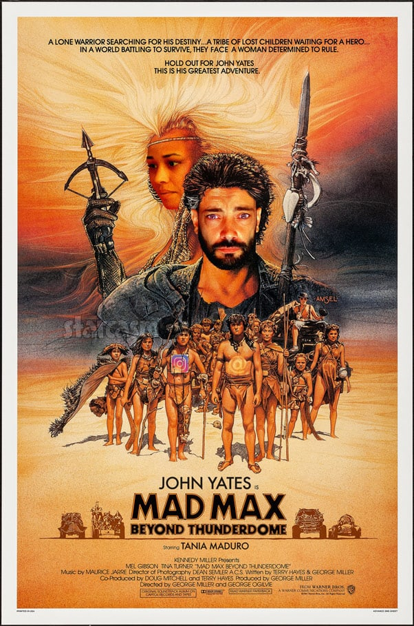 Mad Max Beyond Thunderdome parody poster with John Yates and Tania Maduro from 90 Day Fiance